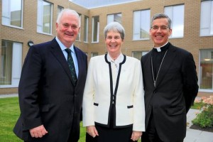Former Taoiseach John Bruton with Sr Maureen O'Malley of the Missionary Sisters of the Holy Rosary and the Papal Nuncio, Archbishop Charles Brown. Pic Arthur Carron. Courtesy: Irish Independent