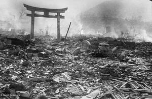 Nagasaki in aftermath of atomic bomb.