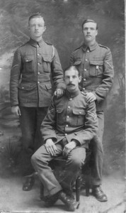 Bishop Colton's grandfather, Samuel Colton from Dublin, aged just 18, who served in East Africa with the British Army's Ordinance Corps in World War I, pictured in September 1914 while he was on leave.
