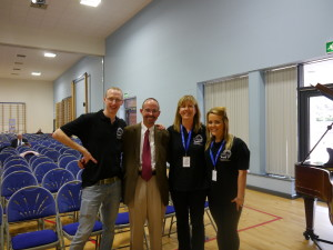 L-R Conor McCarthy, John Allen, Pauline Dowd (Director of Living Youth) and Kiera O'Neill
