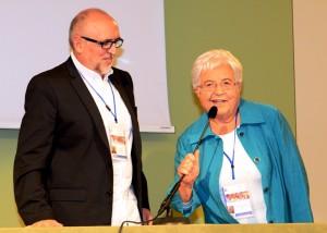 Maria Voce with Jesús Morán