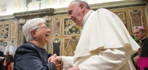 Maria Voce with Pope Francis