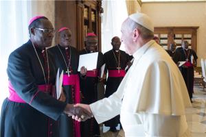 Pope Francis and Burundi bishops
