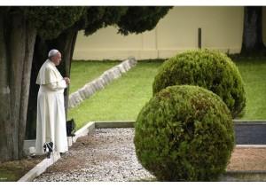 Pope Francis in Cemetery of Fogliano di Redipuglia2