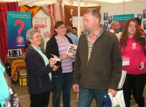 Sr Renate Ziaja and Sr Eva Pliszizak at Irish Missionary Union stand