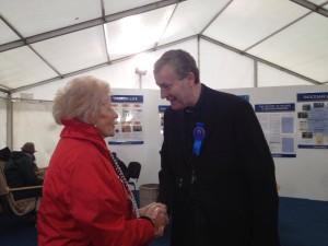 Bishop Nulty and NPA Managing Director Anna May McHugh last year