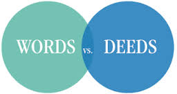 words vs deeds