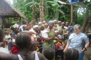 During happier times Sr Teresa with community in Kono District in the Eastern Province