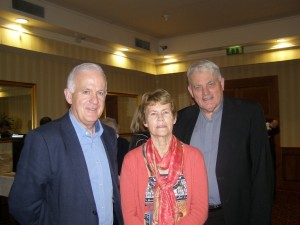 Noel McCann, theologian Aileen Doyle, and Fr Mark Patrick Hederman