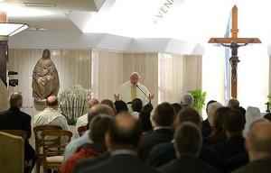 Pope Francis in Santa Martha