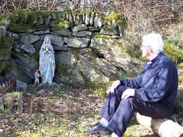 Fr Carlin in gardens at St Anthony's Retreat Centre g