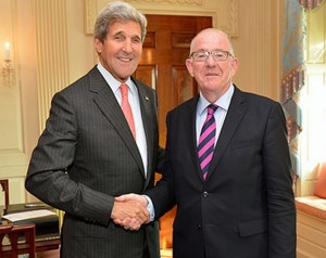 Secretary of State John Kerry with Minister for Foreign Affairs, Charlie Flanagan
