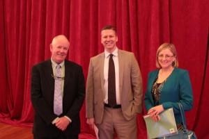 Joe McCarroll with Roger Kiska and Cora Sherlock at PLC National Conference — at RDS Concert Hall
