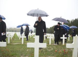 Pilgrimage of European Bishops commemorate the First World War in Verdun.