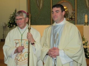 Bishop John Buckley of Cork & Ross with Fr Marius O'Reilly whom he ordained