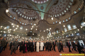 Pope Francis at the Blue Mosque