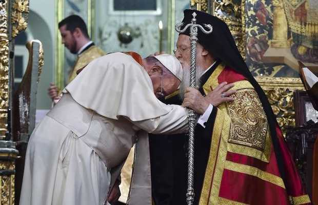 Pope Francis with Ecumenical Patriarch