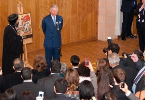 The Prince of Wales addresses Coptic, Syrian Orthodox, Christian communities present in the Middle East.