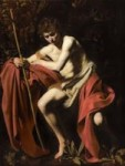 John the Baptist in the Wilderness by Caravaggio -