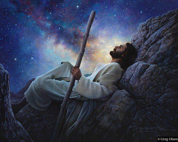 Jesus rests quietly