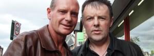 Martin Jim McFadden with soccer legend Gazza