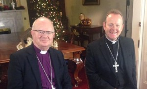 Archbishop Richard Clarke and Archbishop Eamon Martin giving joint Christmas message 2014.