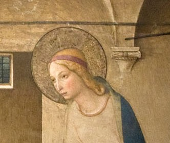 Detail from Fra Angelico's Annunciation