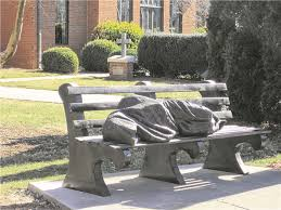 Statue of 'Homeless Jesus'