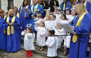 Children from St. Joseph's Nursery and Lucan Gospel choir
