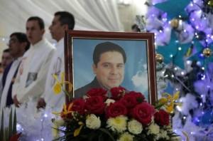 Funeral of Fr Gregorio Lopez Gorostieta. Pic courtesy al jazeera