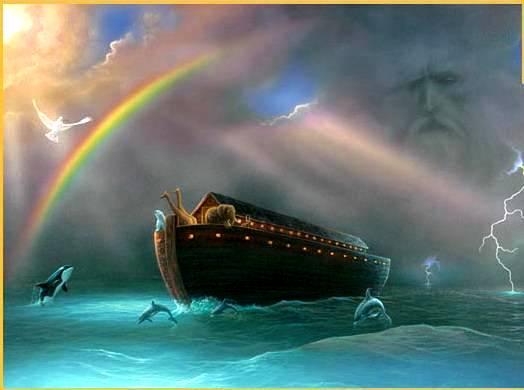 Noah and rainbow