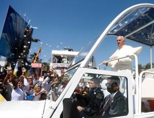 Pope Francis in Colombo, Sri Lanka. Pic: Time.com
