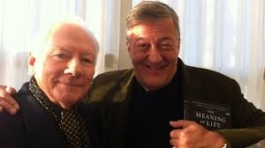 Stephen Fry and Gay Byrne - the Meaning of Life. Pic: courtesy RTE