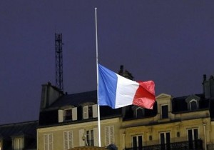 half mast french flag