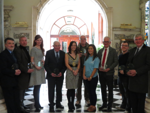 Belfast Lord Mayor Nichola Mallon pictured alongside the 'Unsung Hero' award winners