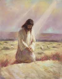 Jesus praying i desert