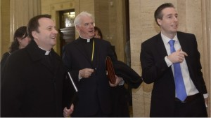 Bishop Noel Treanor and members of NICCOSA with Paul Givan of the DUP. Pic: courtesy bbc.co.uk