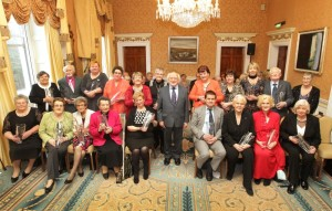 President Michael D. Higgins with winners of Long Service Caring Awards 2015