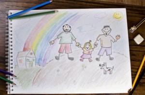 same sex parents (men) cartoon