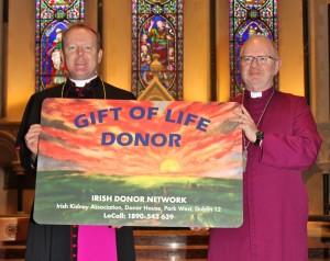 Archbishop Eamon Martin and Archbishop Richard Clarke at the FleshandBlood launch in Dublin. Pic courtesy: Lynn Glanville.