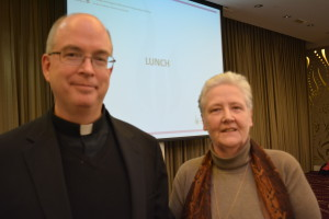 Marie Collins and Mgr Bob Oliver of the Vatican's Pontifical Commission for the Protection of Minors.