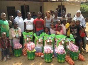 Supplies to five families  in Kenema in Sierra Leone