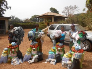 Four Ebola survivors receive supplies