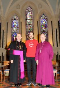 Archbishop Eamon Martin, Matt Hollidge and Archbishop Richard Clarke. Pic courtesy: Lynn Glanville.