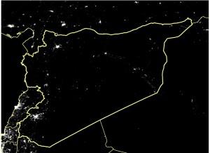 Satellite image Syria taken March 2011