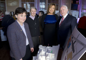 Sr Mary Deane, Sr Bride Given, Mary Kennedy Nationwide and Cllr Jim Corr Chairman  look ove the master plan pictured at the official launch of 'Nano Nagle Place' at The South Presentation Centre