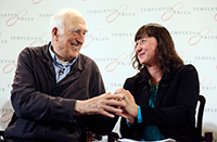 Jean Vanier, 2015 Templeton Prize Laureate and Jennifer Simpson, daughter of Dr. John M. Templeton, Jr.