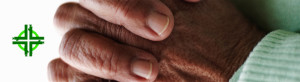 world day of prayer closeup-focus-of-an-elderly-womans-hand-joined-together