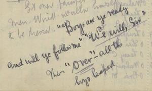 Fr Gleeson handwriting