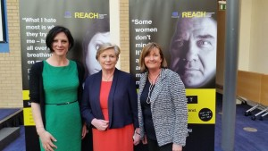 Sarah Benson, CEO, Ruhama and Valerie Judge, Chairperson of Ruhama are photographed with Minister for Justice Frances Fitzgerald.